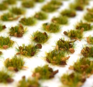 100 Peel and Stick Self Adhesive TuftsVibrant ColoursStrong Tacky AdhesiveRealistic Styled GrassEasy To Apply100 x Summer Alpine Grass Self Adhesive Static Grass Tufts 4mm. Just peel off backing paper and place where required.