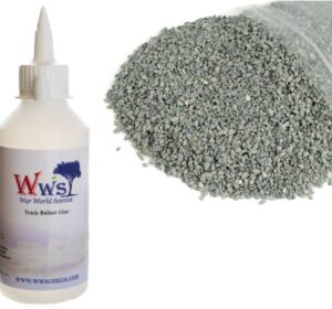 Fine Dark Grey Ballast & Track Ballast Glue 1