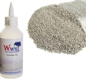 Fine Light Grey Ballast & Track Ballast Glue 1