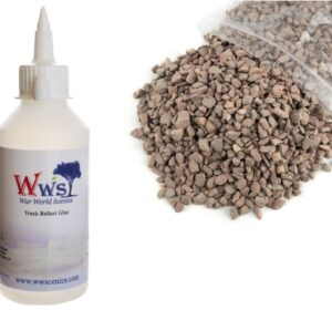 Large Grade Red Ballast & Track Ballast Glue 1