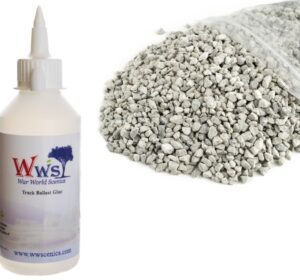 Medium Grade Light Grey Ballast & Track Ballast Glue 1