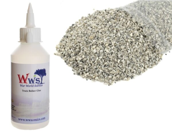 Medium Grade Mixed Grey Ballast & Track Ballast Glue 1