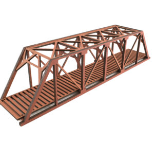 Single Red Railroad Girder 1