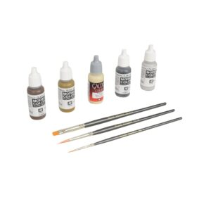 Battle Bocage Vallejo Paint & Paintbrush Set