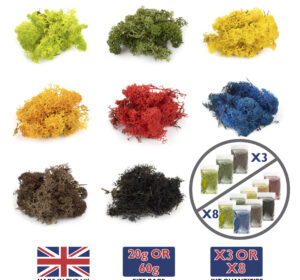 Lichen Multi Coloured Packs 8 X 20g 60g Variation