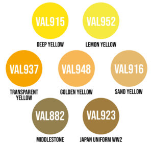 Wwg Vallejo Model Color Yellow Variation 2