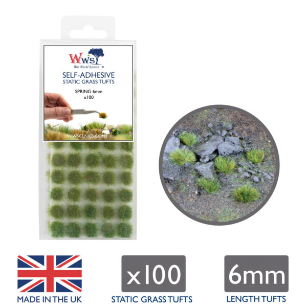 Spring 6mm Static Grass Tufts 1